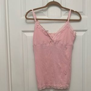 Aerie - Pink Ribbed Tank Top